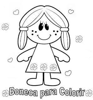 desenho boneca pintar