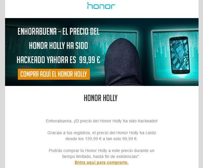 Se ha conseguido el objetivo de bajar el precio de venta del nuevo Honor Holly.
