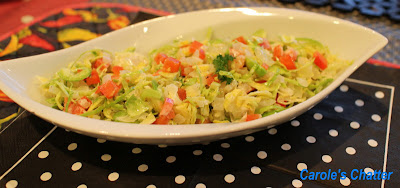 Brussels Sprout Salad or Slaw by Carole's Chatter