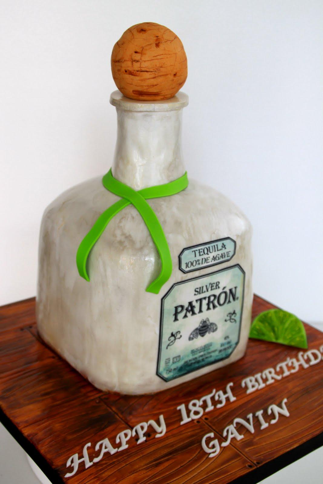 Celebrate With Cake Patron Tequila Bottle Cake - Patron birthday cake