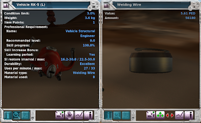 Entropia Universe - Vehicle Repair Tool And Welding Wires