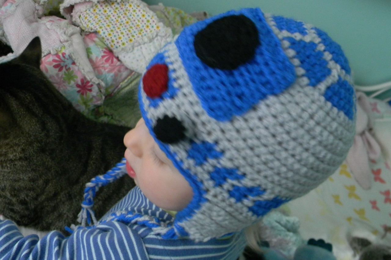 Crochet Pattern R2d2 Hat ~ Pakbit for .