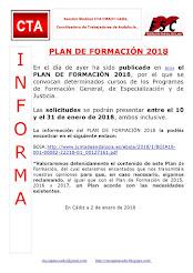 PLAN DE FORMACIÓN 2018