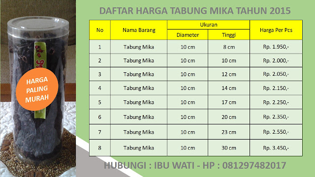 Grosir Kemasan Tabung Mika Ukuran Diameter 10 cm