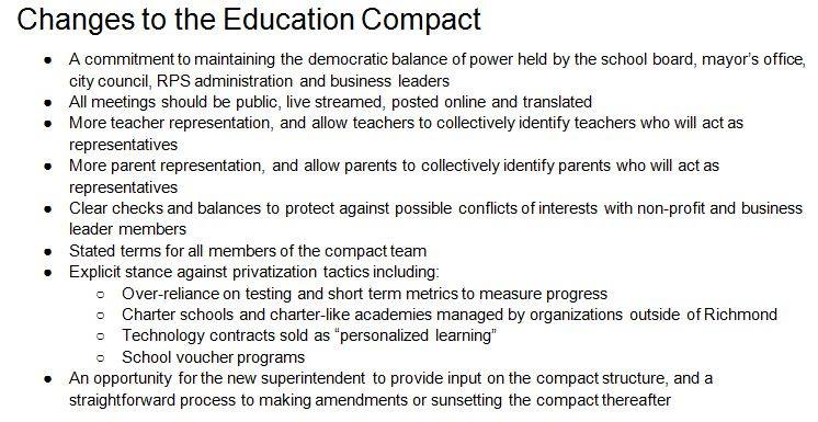 Proposed Changes to Education COMPACT