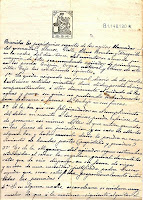 Documento de Candelario Salamanca 1921