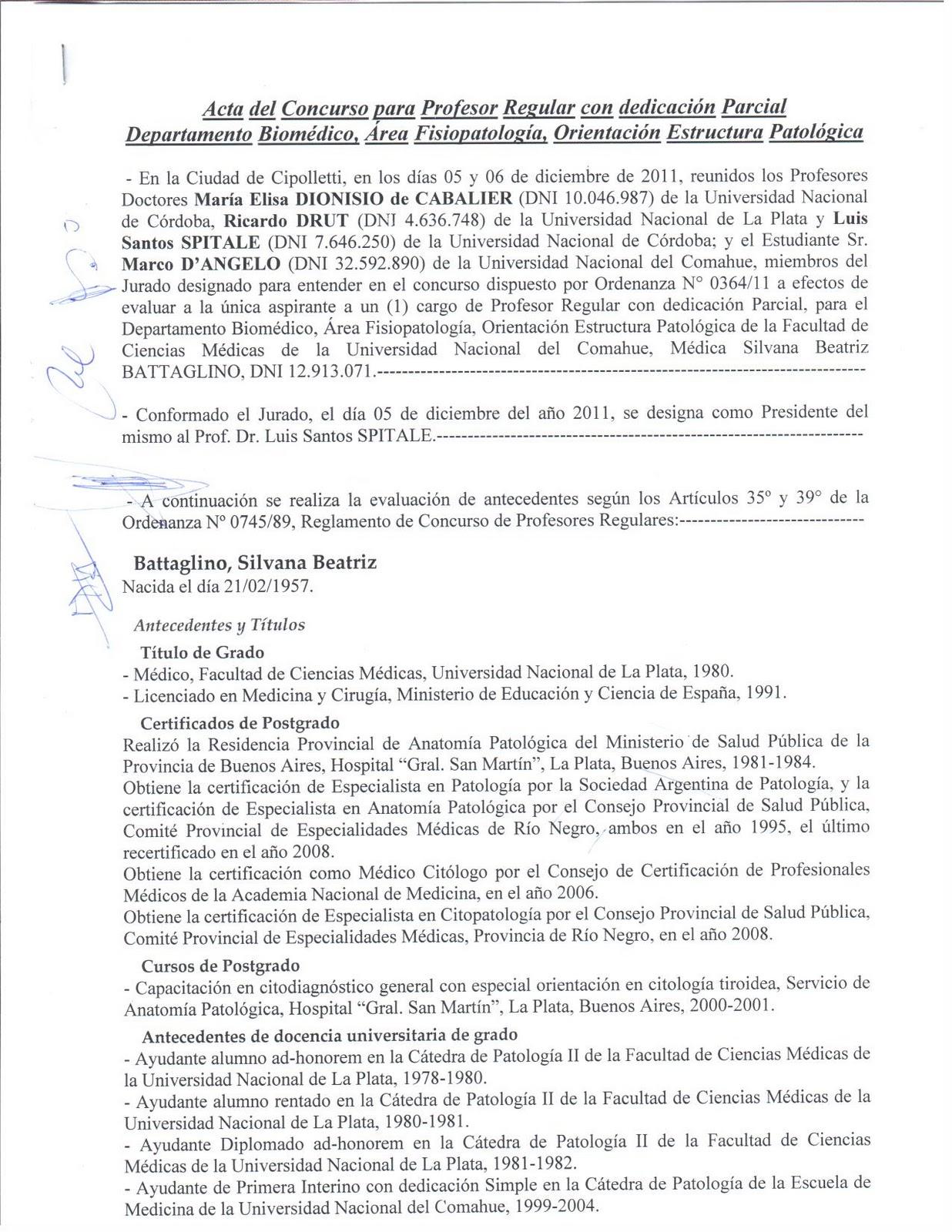Concursos docentes regulares facultad de ciencias for Concurso docentes
