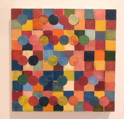 kate mackay, painting, affiliated text, cross art, geometric abstraction