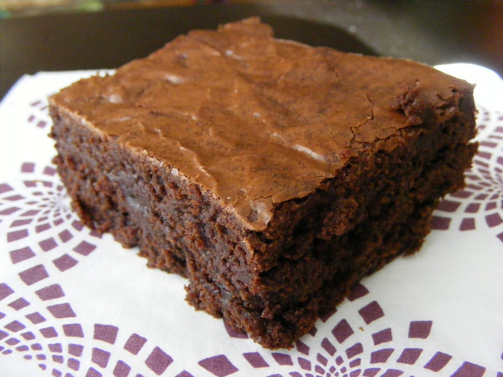 The Virtual Goody Plate: Chewy, Fudgy Triple-Chocolate Brownies