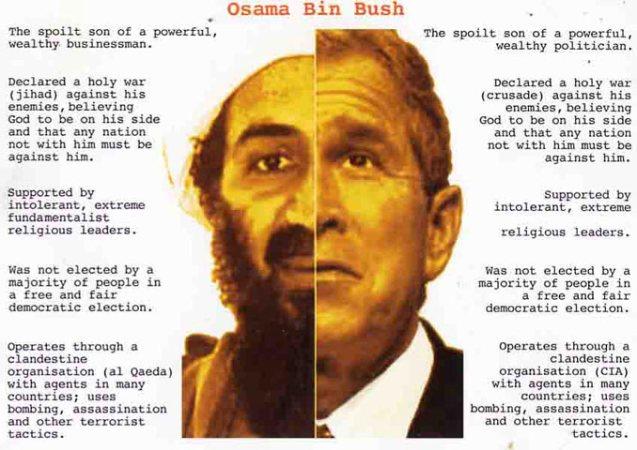 george bush jr and osama bin laden relationship