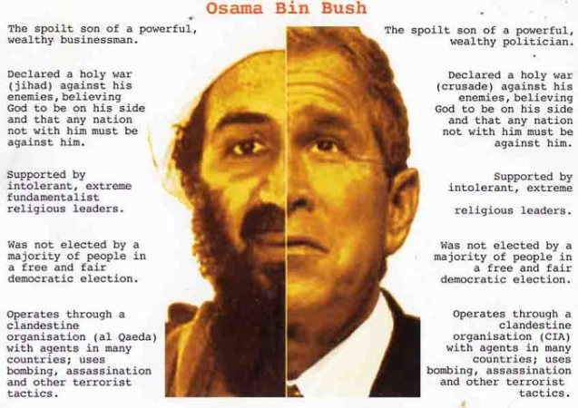 relationship between bush and bin laden family pictures