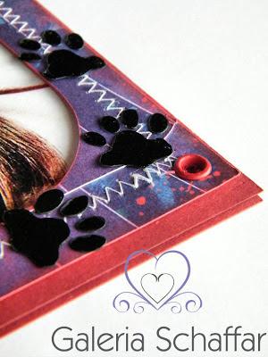 jak zrobić ślady kota? - kocie łapki z papieru - pomysłowa kartka urodzinowa