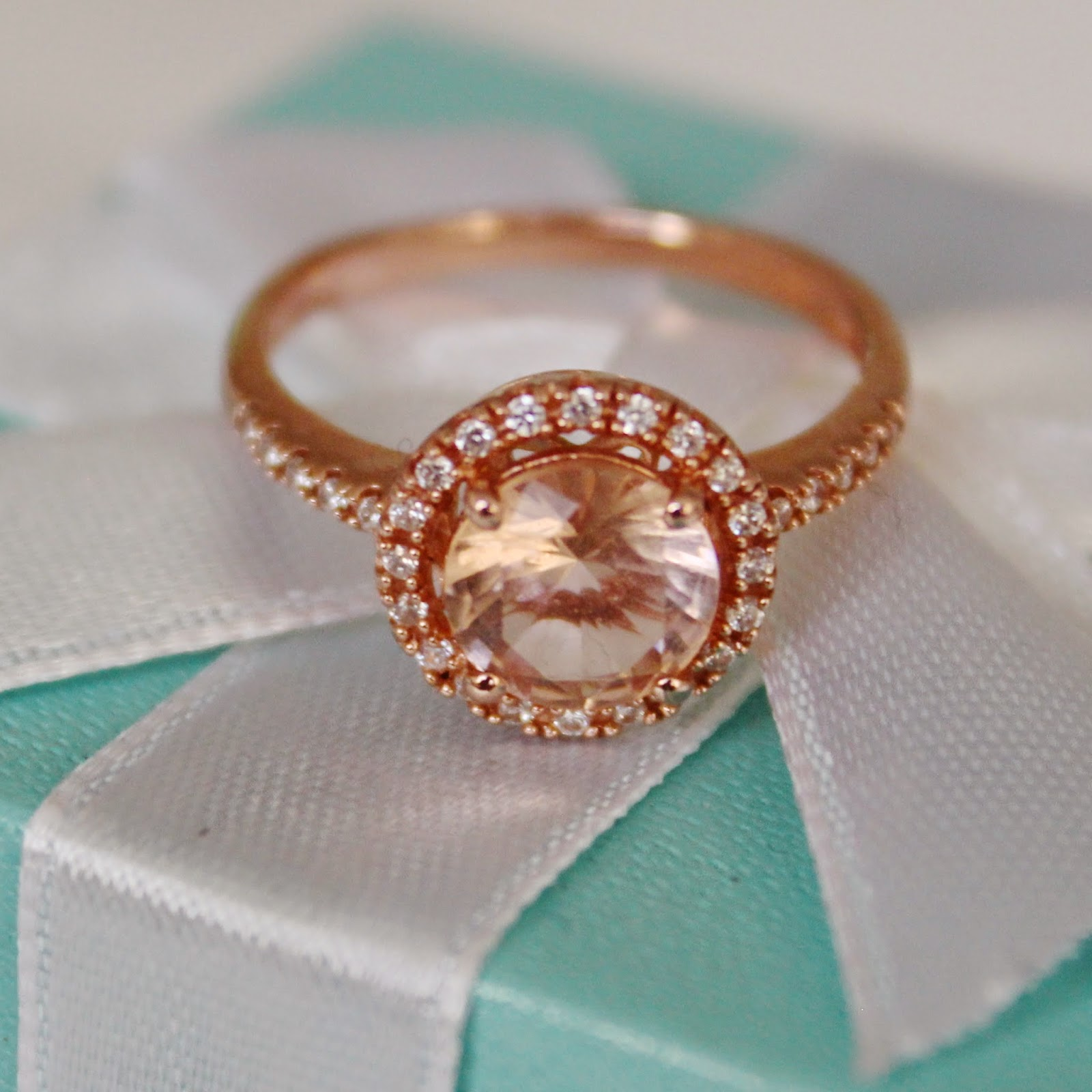This Is The Diamonique And Simulated Morganite Rose Gold Plated Ring I  Didn't Mention That Alongside My Rose Gold Obsession, I've Also Recently  Discovered