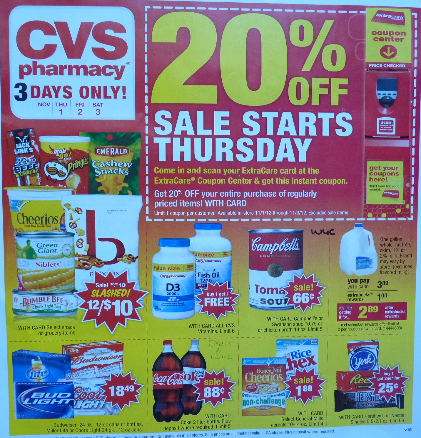 simply cvs  cvs ad scan preview for the week of 11  1  2012  3-day sale