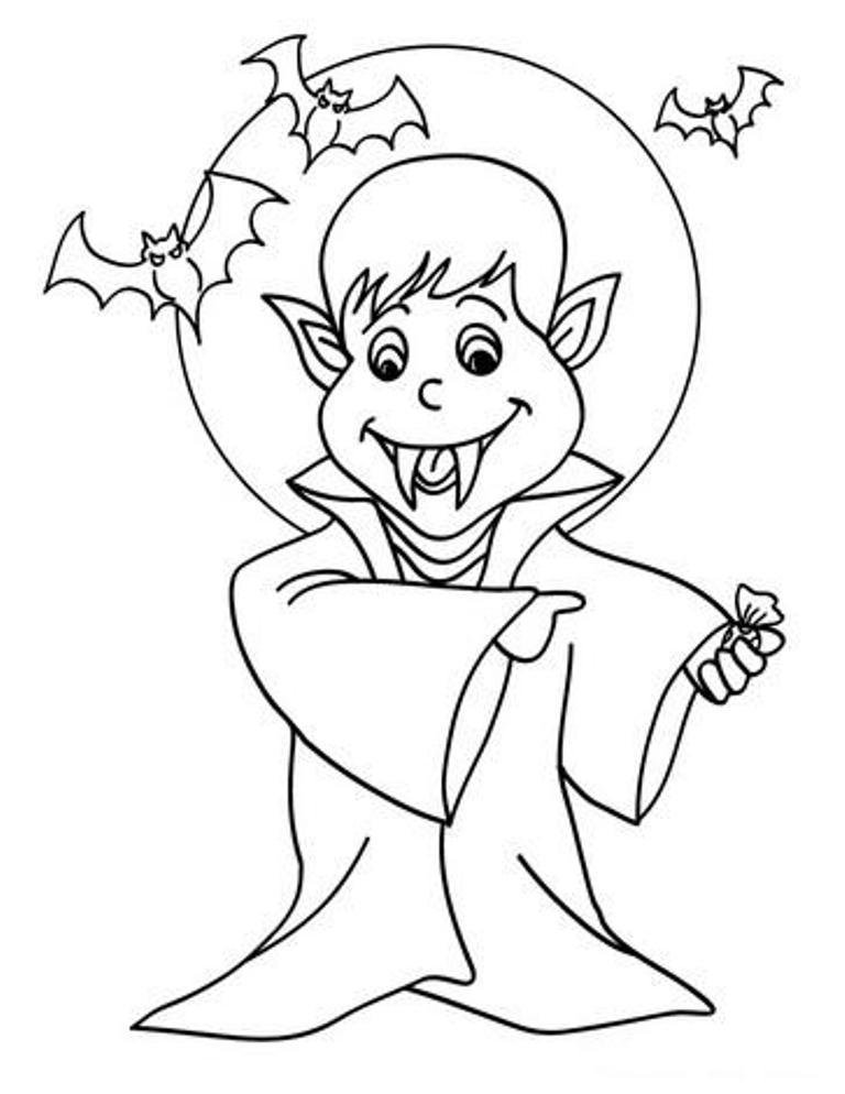 Fantástico Niño Pequeño Halloween Para Colorear Embellecimiento ...