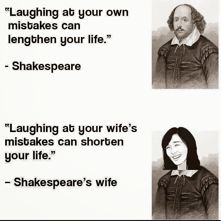 Shakespeare Shocked , His Wife Rocked