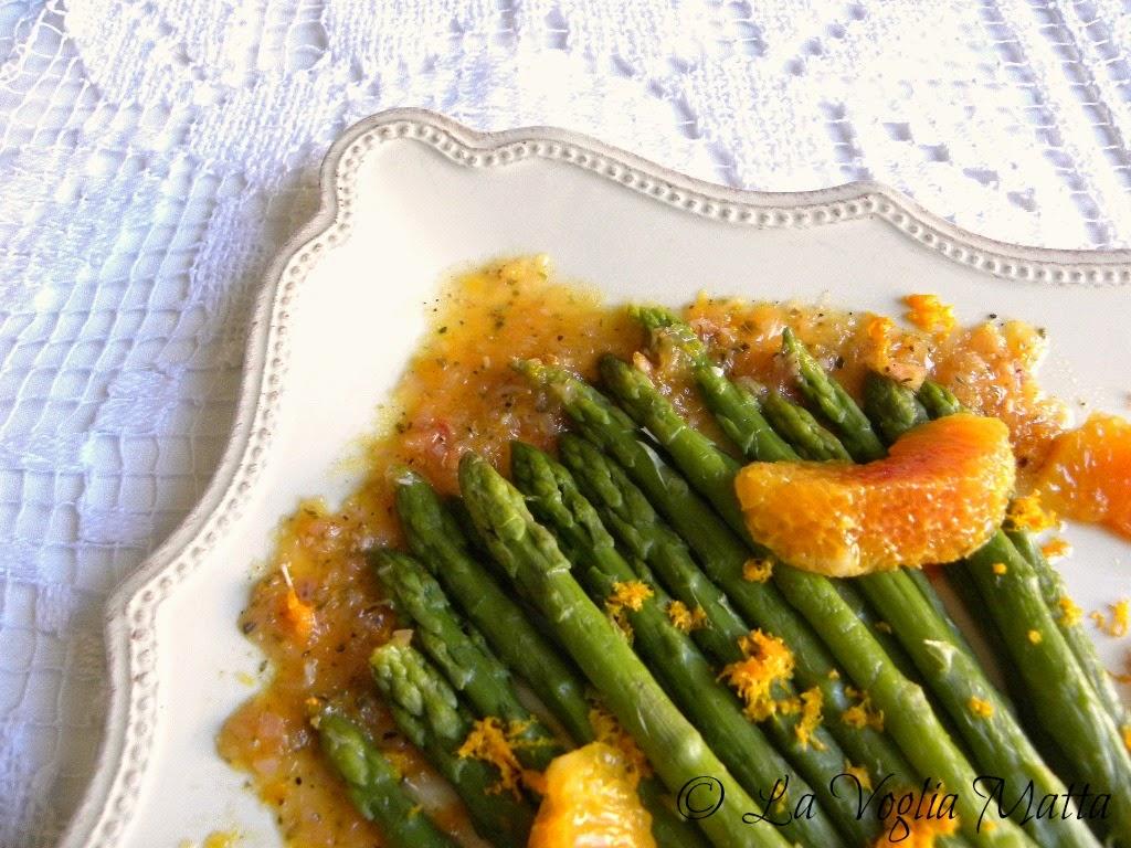 ricetta asparagi e citronette all'arancia