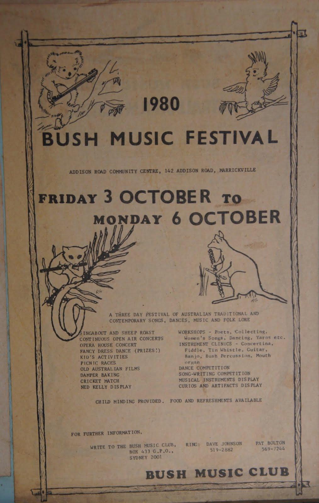 The bush music club bob bolton archives bush music for House music 1980s songs