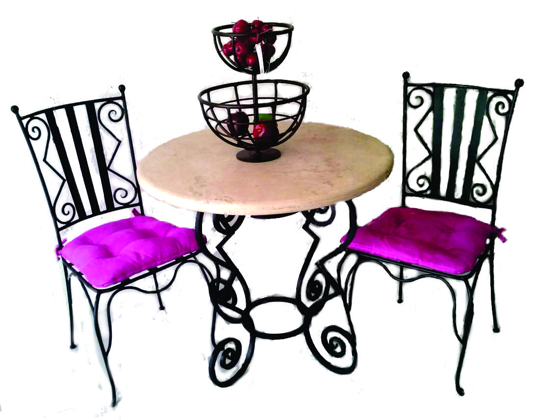 imagenes de muebles de hierro forjado - Román Pagano Herrería de Obra Muebles de hierro