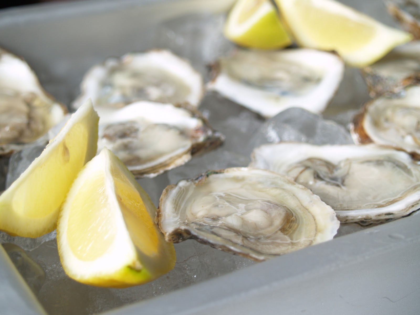 Persimmon and Peach: Oysters with Mignonette Sauce