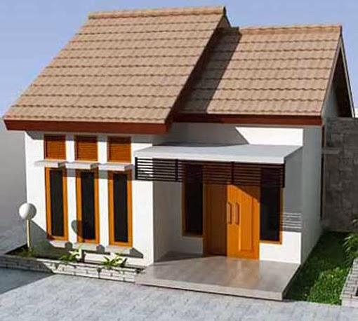 tampak depan rumah minimalis 1 lantai mungil desain