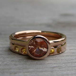 colorful wedding rings