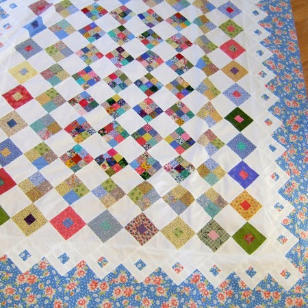 Spring Garden quilt - 9 patches & square in a square