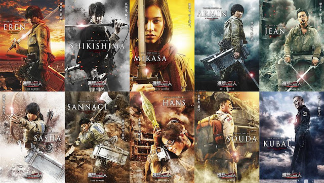 Attack on Titan live action cast characters