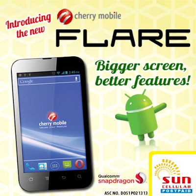 Introducing The New Sun Cellular Cherry Mobile Flare Available On Sun Plan 350