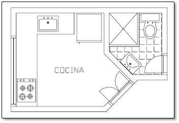 Construcci n interpretaci n de planos planos for Cocina plano arquitectonico