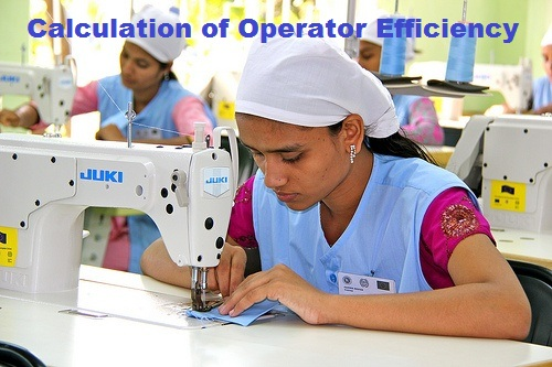Operator in garment sewing