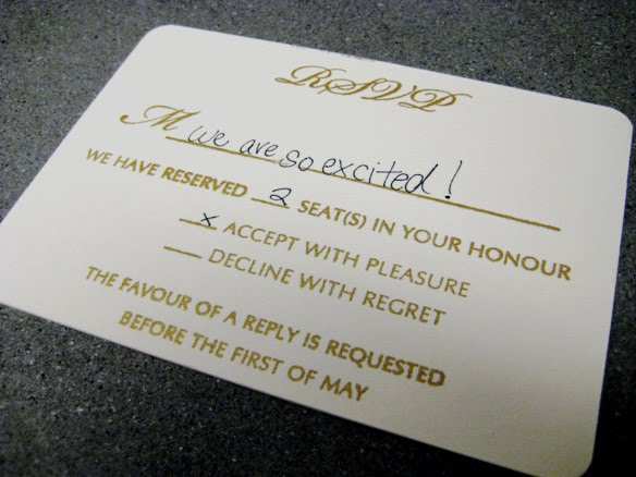 Detroit michigan wedding planner blog great tip for your for Wedding rsvp cards filled out