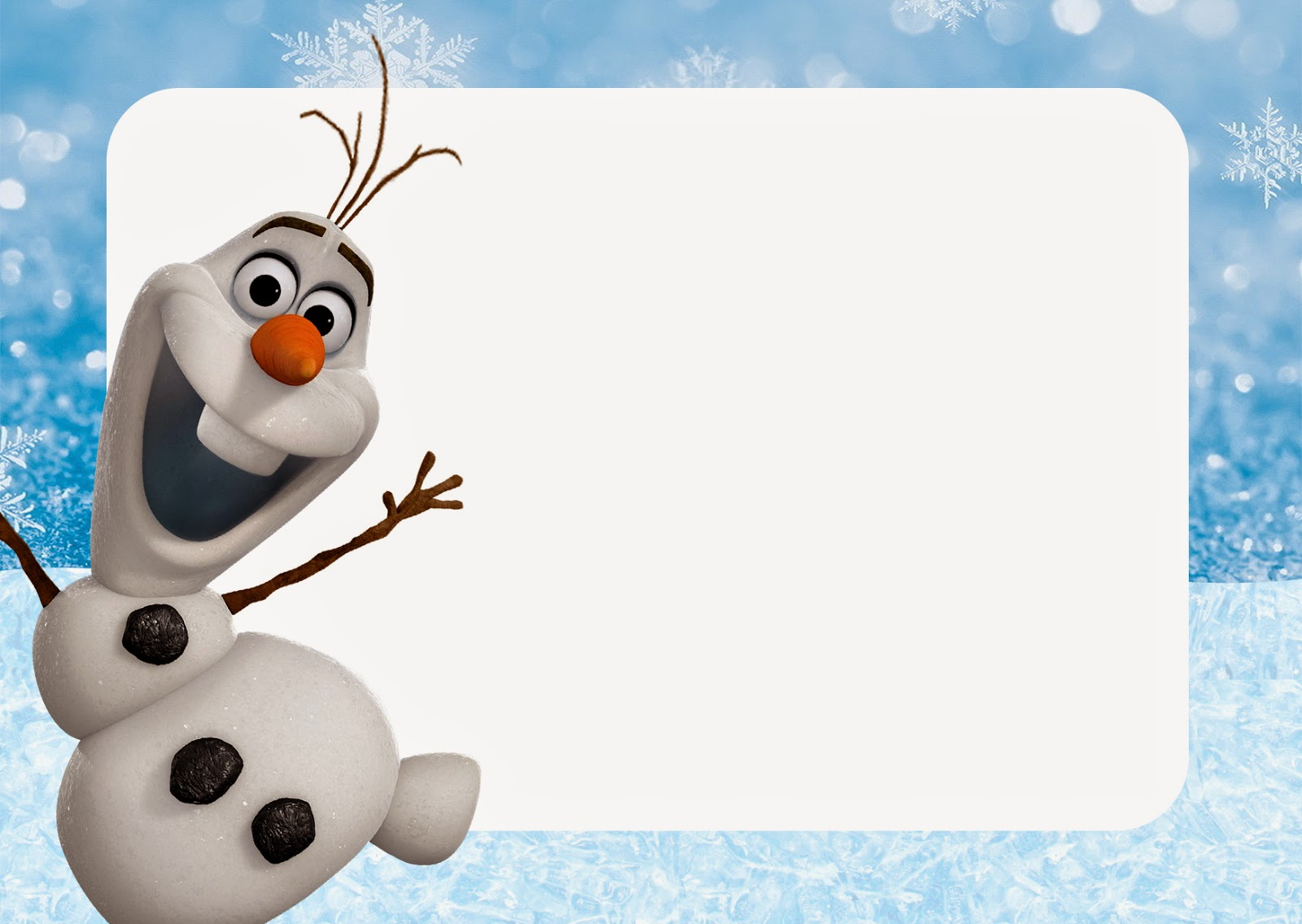 Olaf: Free Printable Invitations. | Is it for PARTIES? Is it FREE? Is ...