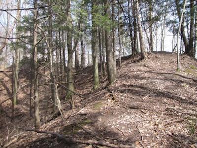 ridge of land