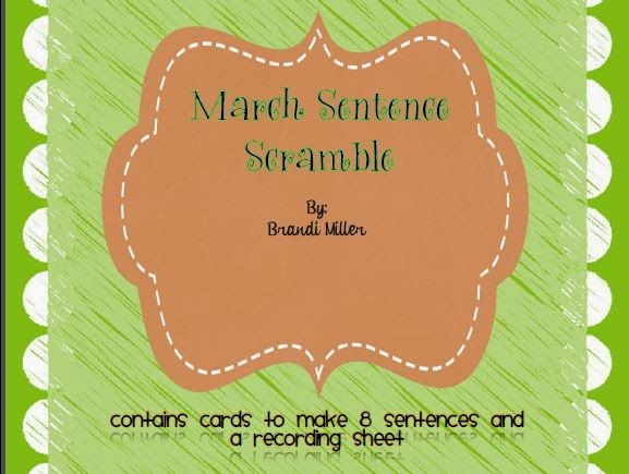 http://www.teacherspayteachers.com/Product/March-Sentence-Scramble-1136407