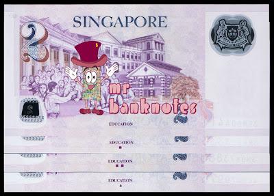 Singapore 2 Dollars reverse varieties