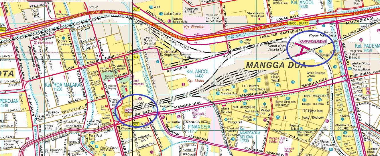 Peta Lokasi Stasiun kereta Api Jakarta Kota