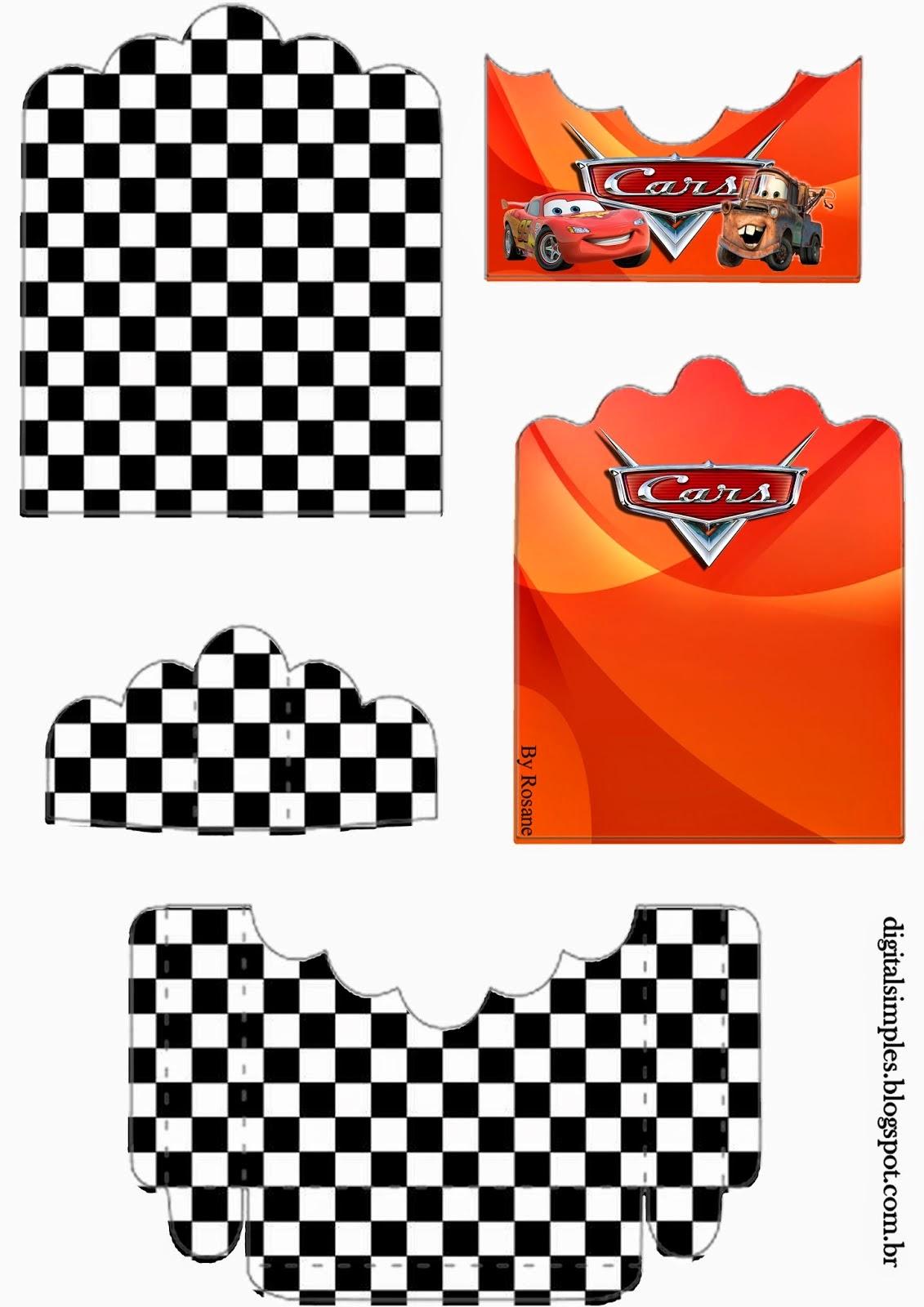 Cars: Soporte para Golosinas para Imprimir Gratis.