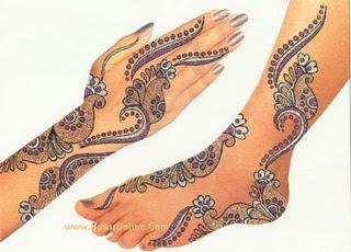 Wedding Fashion Bridal Hinna Designs Pictures