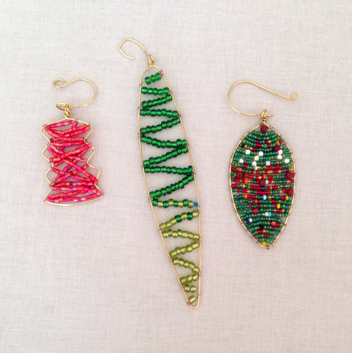 Easy to make wire and bead ornaments, DIY
