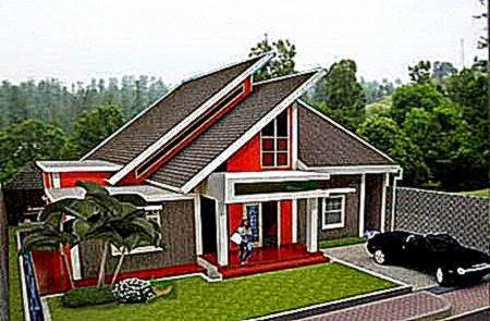 Desain Bentuk Atap Teras dan Rumah Minimalis Modern 1 Lantai