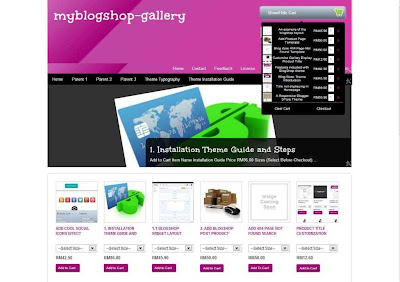 My Blogshop Gallery tutorial and installation