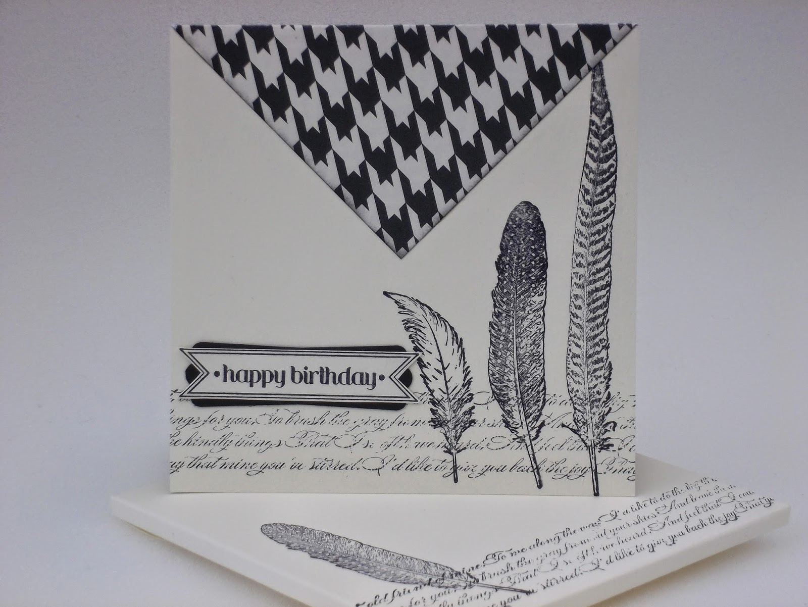 Fine Feathers gift card holder