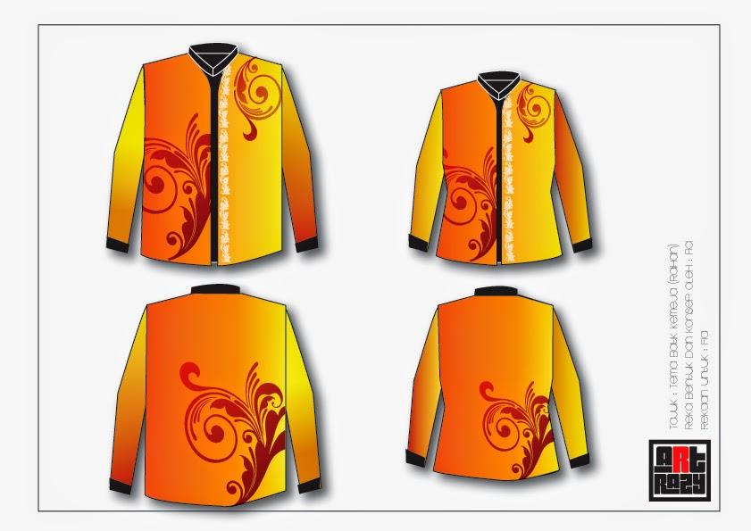 Foto Baju Batik Vector