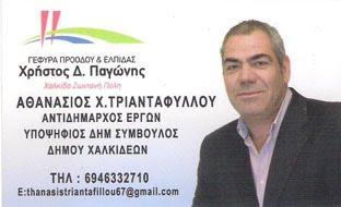 Θανάσης Τριανταφύλλου υποψήφιος δημοτικός σύμβουλος Δήμου Χαλκιδέων