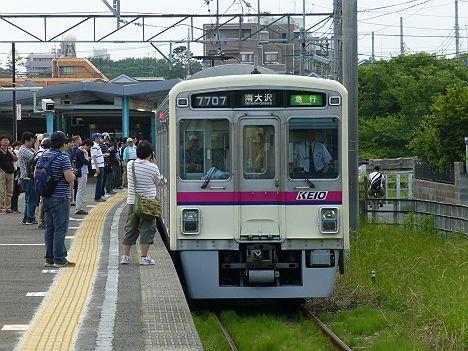 急行南大沢行き7000系