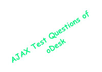 ajax test questions of odesk