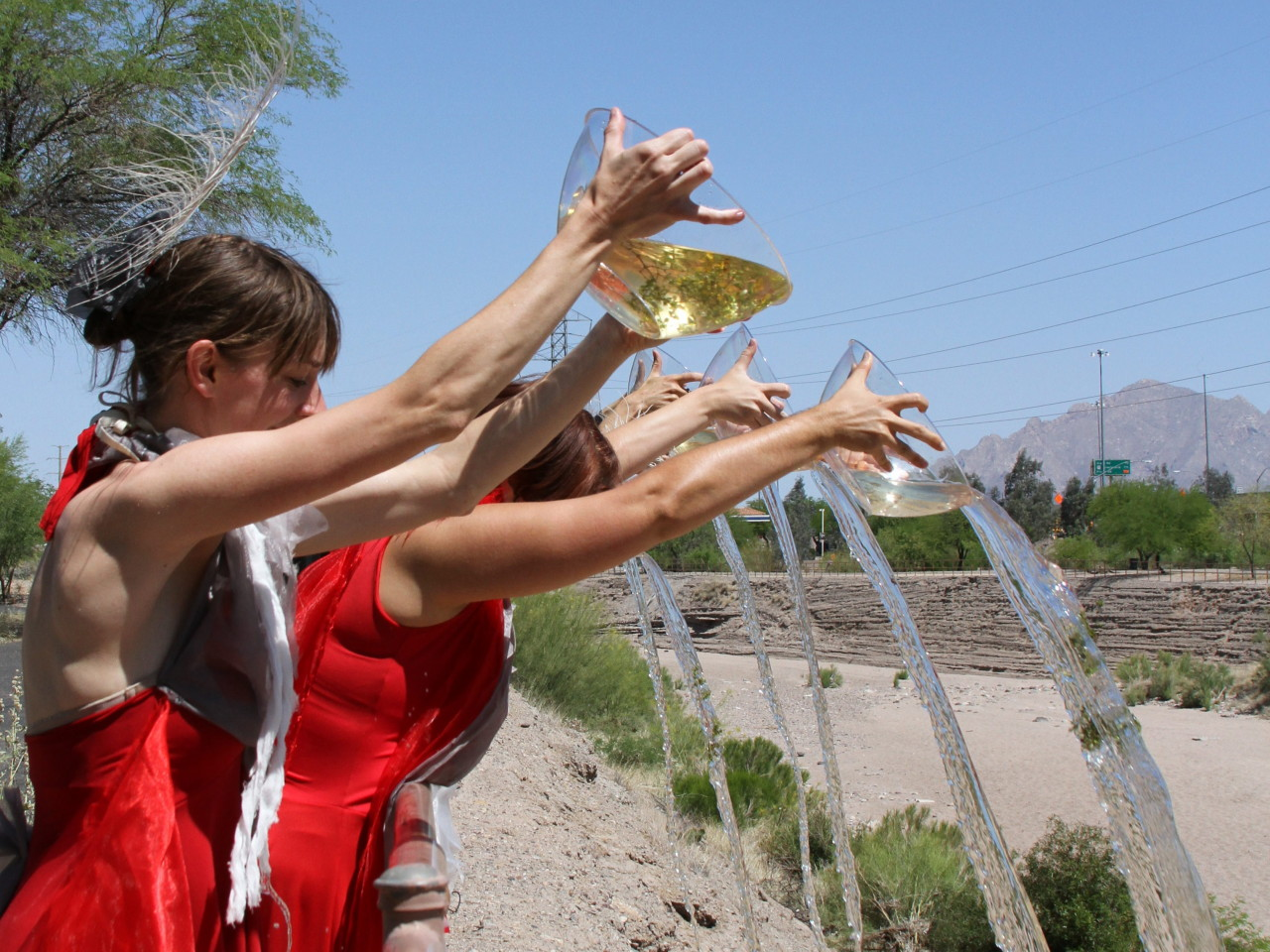 Touch the wind flowing the santa cruz river for Fishing in tucson