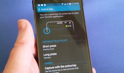 Nuovo tasto fisico Active Key sul Galaxy S5 Active di Samsung da usare sott'acqua