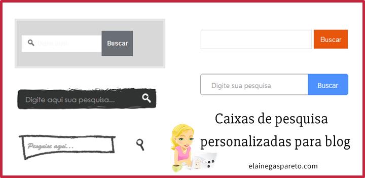 caixas de pesquisa personalizadas para blogs